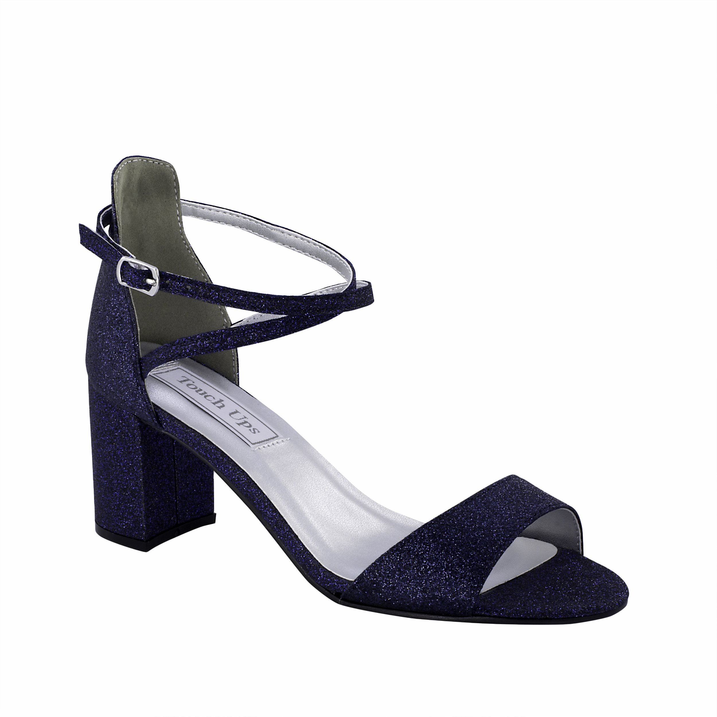 Touch Ups Women's Jackie Heeled Sandal, Navy, 5.5 M US