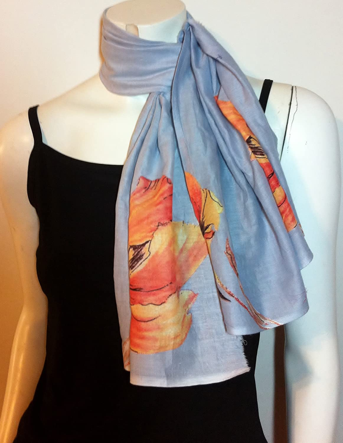Grey 100% Cotton Scarf, Cool Accessory, Neck Wear Wrap, Great Affordable Gift for Girls Women Ladies