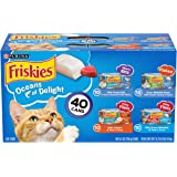 Purina Friskies Wet Cat Food Variety Pack, Oceans of Delight Meaty Bits, Flaked & Prime Filets - (40) 5.5 oz. Cans