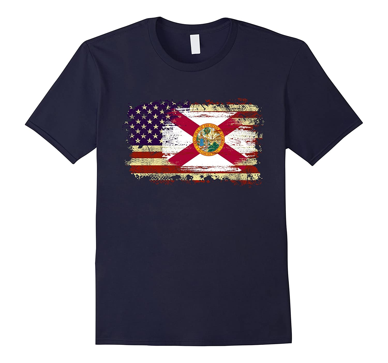America Florida Flag T-shirt Support To Florida-CD