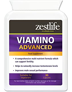 zestlife viamino 2 x 30 capsules nutritional supplement for men may help to support normal