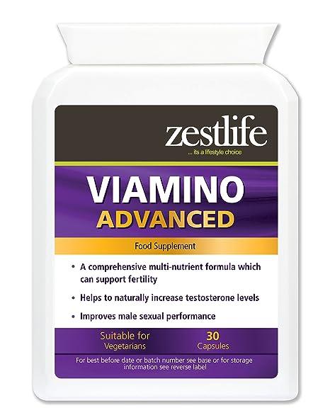 Zestlife Viamino 30 Cápsulas Suplemento Nutricional Hombres | Puede ayudar a apoyar a las hormonas sexuales