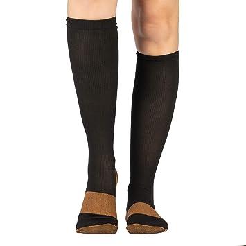 Calcetines de compresión de cobre (par) reducir la fatiga y energizar pies y piernas