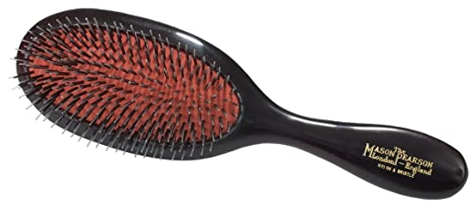 Mason Pearson Handy Mixed Bristle Brush (BN3), Dark Ruby