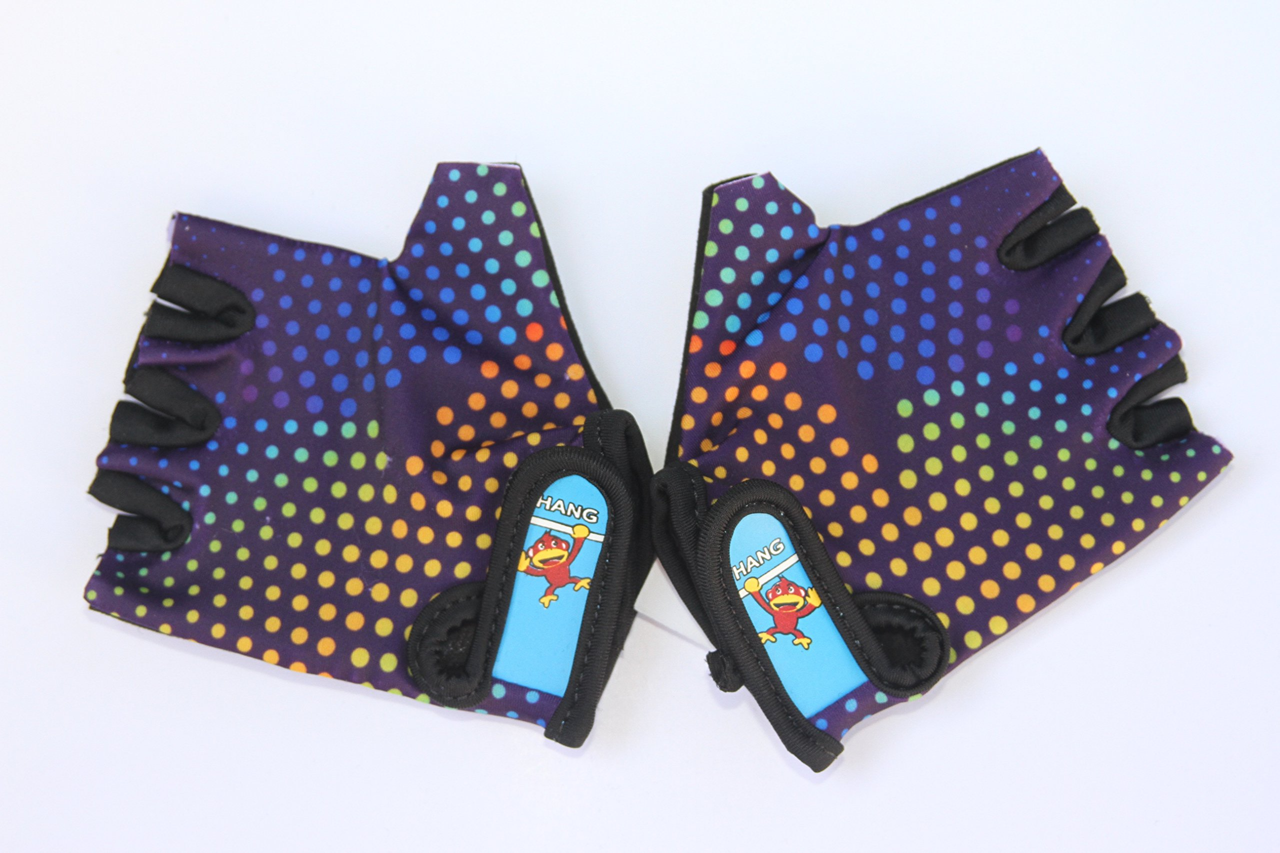 HANG Monkey Bars Gloves/Cycling Gloves (for 7 and 8 Years Old) with Grip Control
