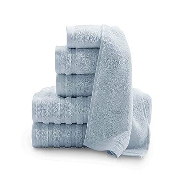Baltic lino Company Pure Elegance 100% algodón turco 6 piezas Toalla de lujo Set: Amazon.es: Hogar
