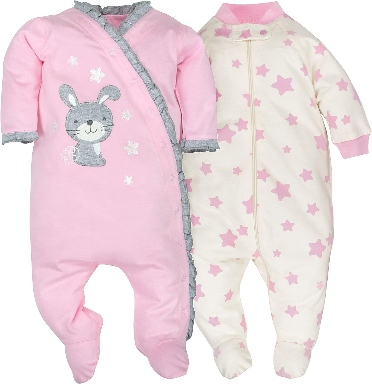 GERBER Baby Girls 2-Pack Organic Sleep N Play