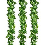 Outus 12 Pezzi Artificiale Pianta Edera Rampicante Ghirlanda per Festa di Matrimonio e la Decorazione della Parete di Giardino