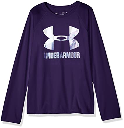 Under Armour Girls Big Logo Long Sleeve