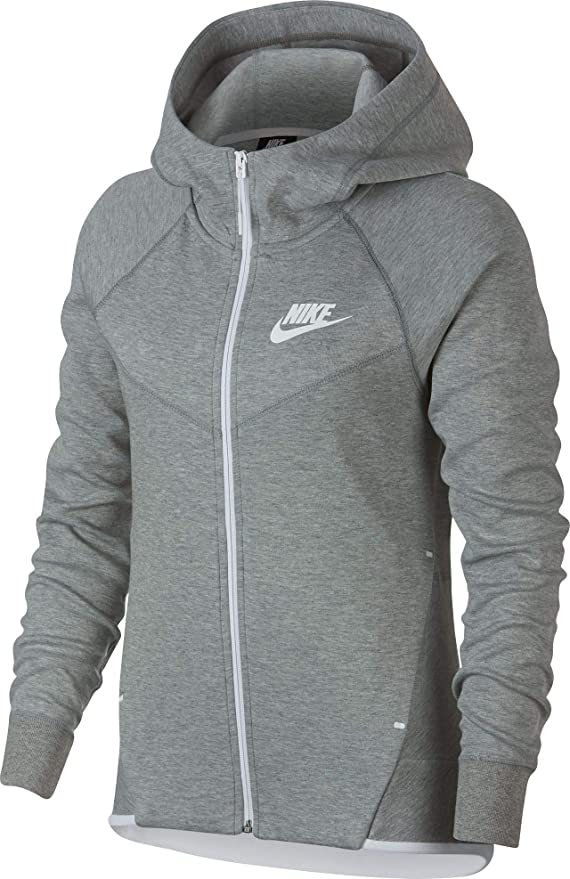 16f1b7d5a Amazon.com: Nike Womens Tech Fleece Full Zip Hoodie Black/White 930759-011-Size  Medium: Clothing