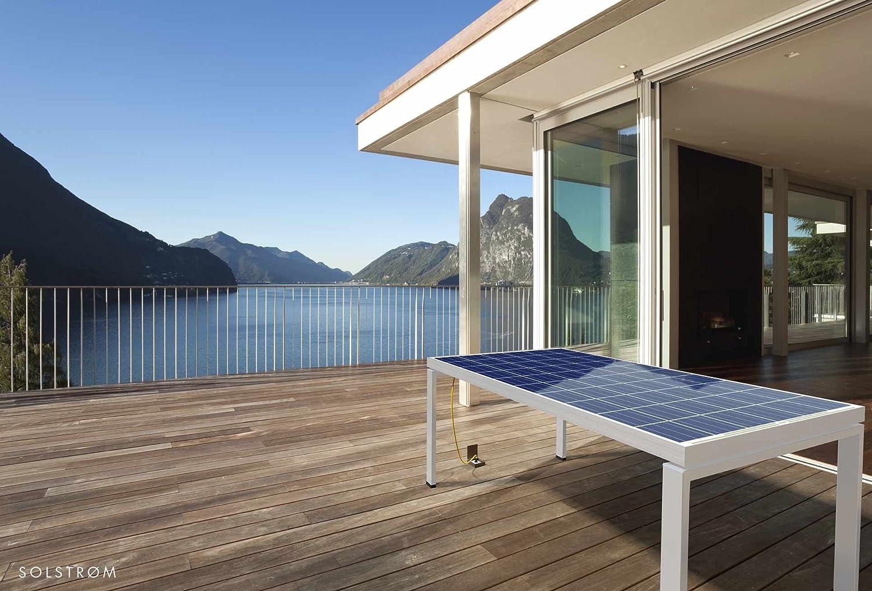 Neuheit: Solar Gartentisch Terrassentisch Alu 167x100cm für 4 ...