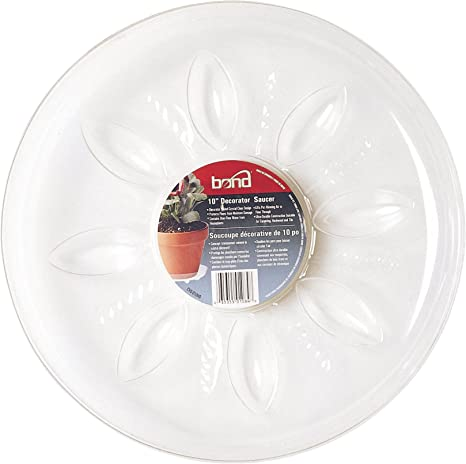 Bond CVS010HD 10-Inch Heavy Duty Clear Plastic Saucers