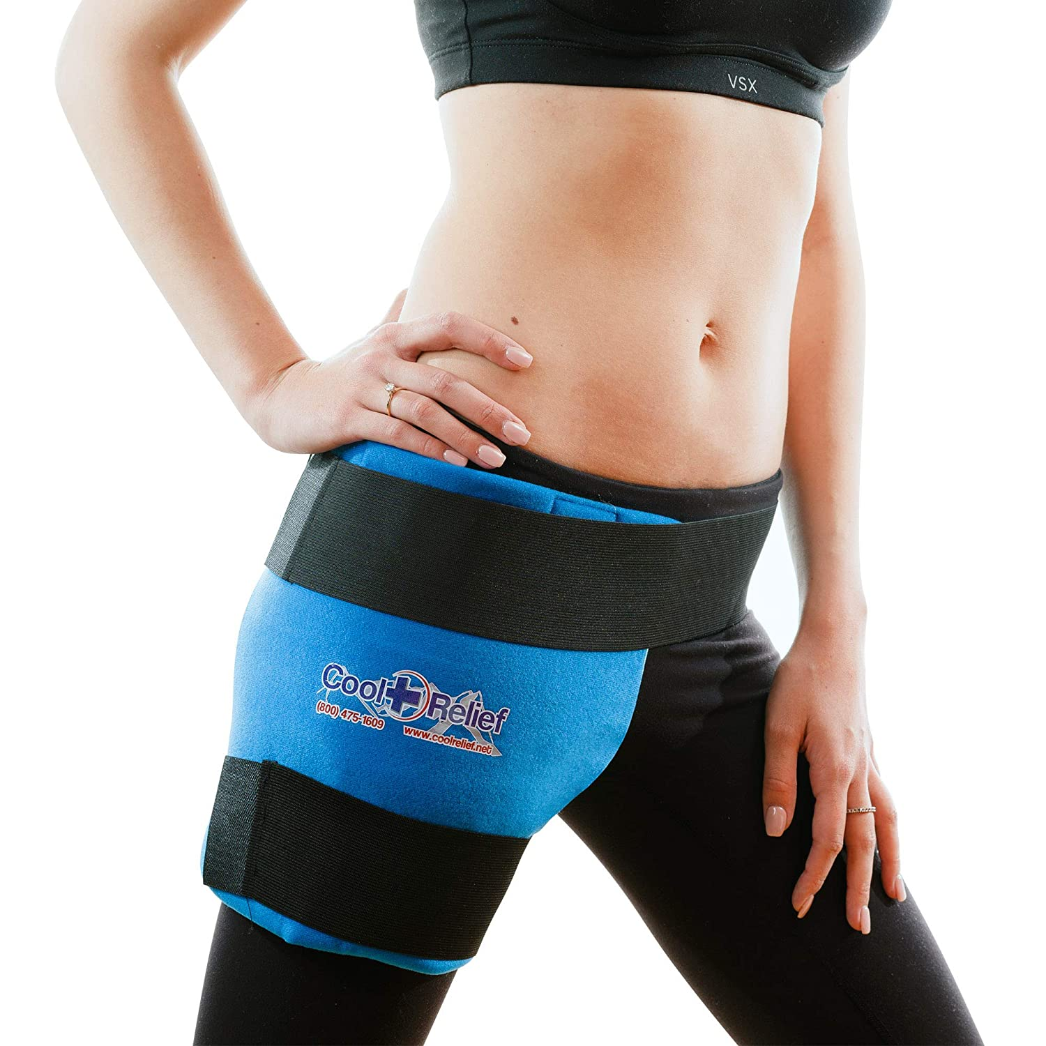 """Cool Relief Ice Wrap 11""""x12"""" Blue Cooling Hip Pack"""
