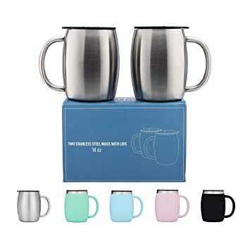 Amazon.com: Tazas de café de acero inoxidable con ...