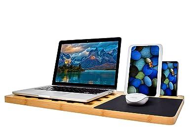 Amazon.com: Portátil regazo bandeja de computadora tablero ...