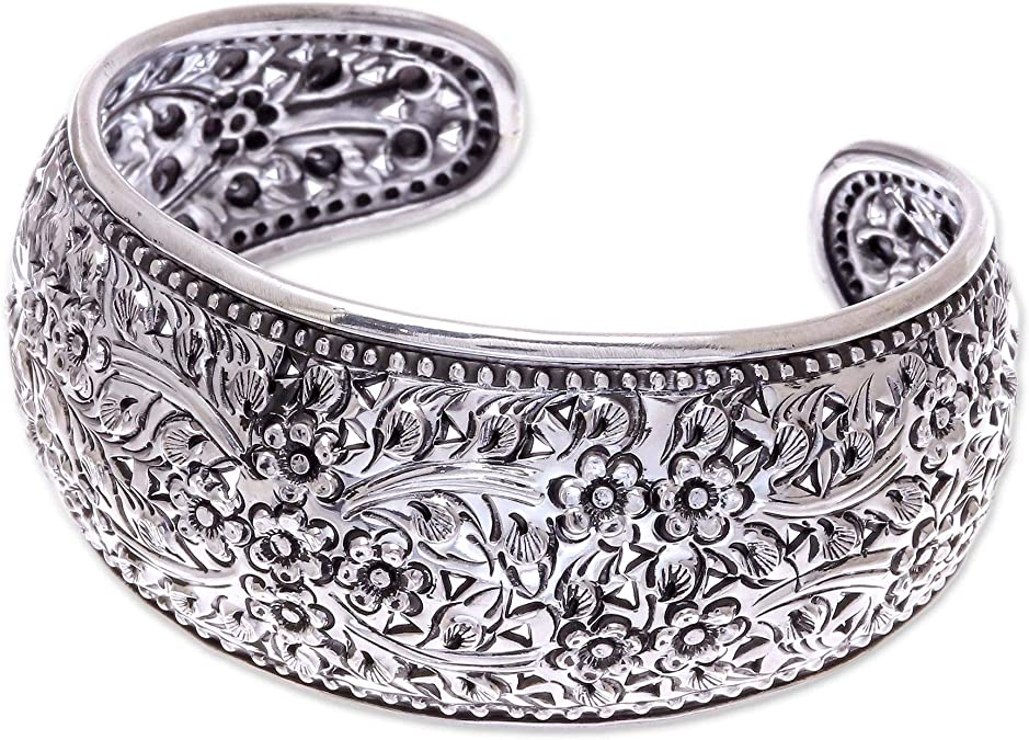 price for 1 psc. 925 Sterling Silver black finish diamond buckle bracelet 6.5 inch long
