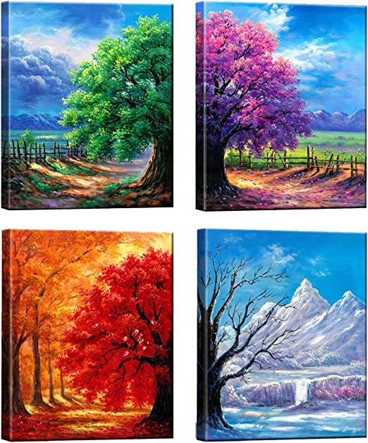 Modern Oil Painting Canvas Print Landscape Painting Abstract Art Print Increase