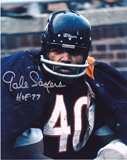 0c76cda8701 Image Unavailable. Image not available for. Color  Gale Sayers Signed ...
