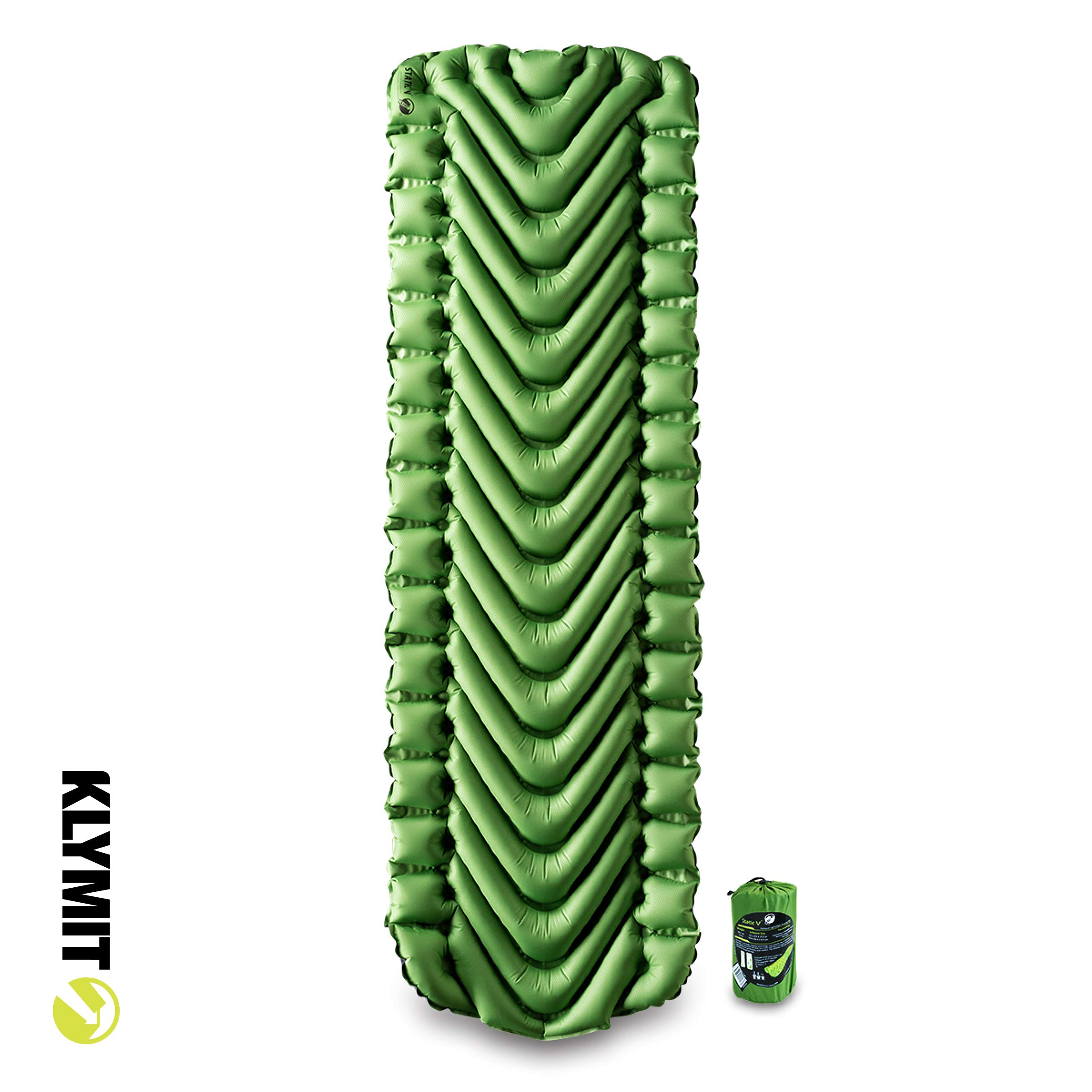 Static V Sleeping Pad - Green 2020 by Klymit