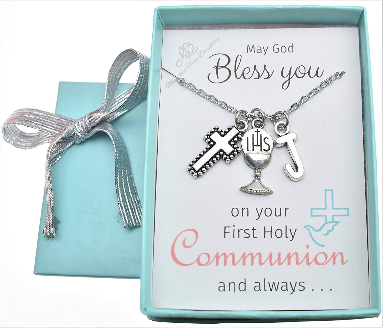 Little girls necklace Little girls jewelry First communion gift. Little girls First Communion necklace