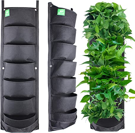 """GREEN 4 X 18/""""NEW EASY FILL HANGING WALL PLANTER BASKET"""