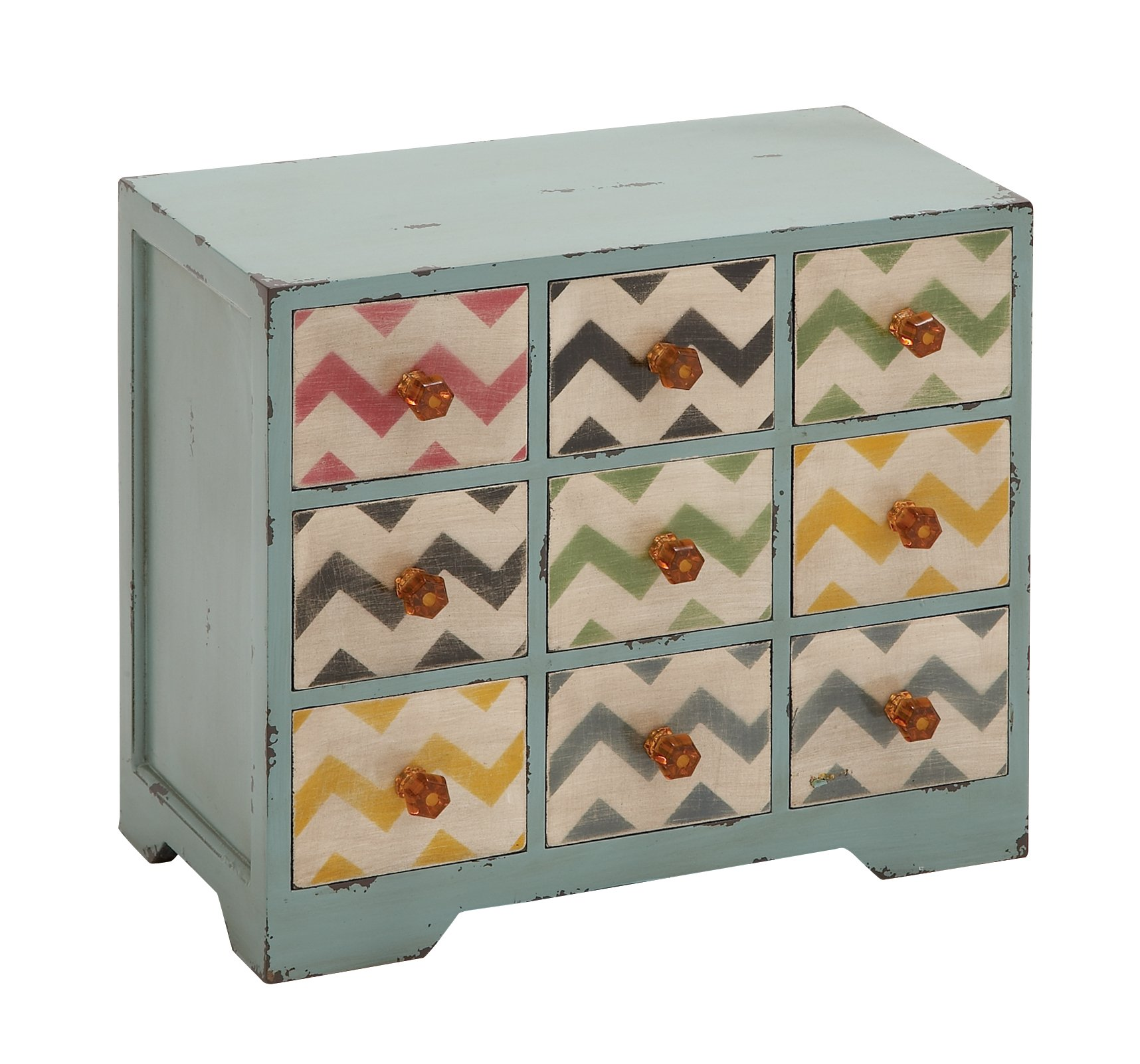 Benzara Contemporary Styled Wood Jewelry Chest Table