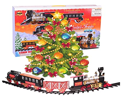 northern express christmas train set around the tree holiday santa train set large scale - Around The Christmas Tree Train Set