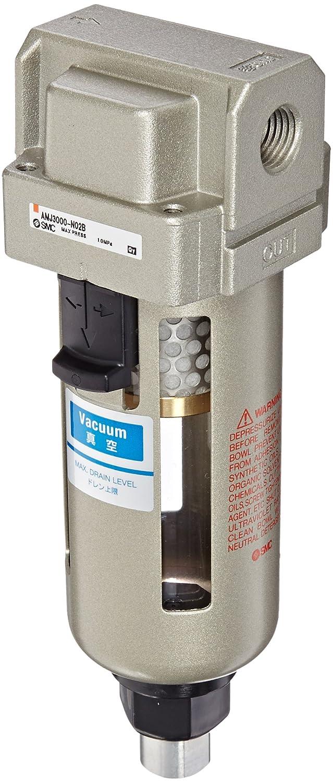 SMC AMJ3000-N02B Drain Separator for Vacuum, 1/4' NPT, Mounting Bracket