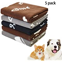 softan Coperta Cane, Coperta per Animale Domestico Calda in Morbido Pile per Cucciolo,Animali, Cane e Gatto, 5 Pezzi,60 * 70cm