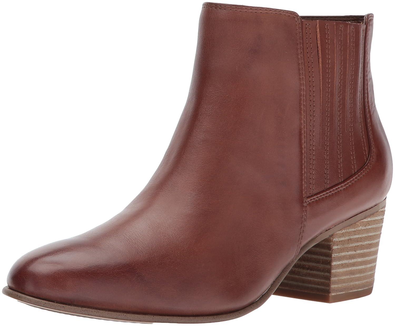 CLARKS Women's Maypearl Tulsa Ankle Bootie B01N5HQJMI 9.5 B(M) US|Dark Tan Leather
