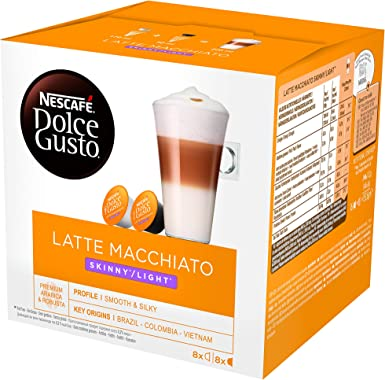NESACAFÉ Dolce Gusto   Capsulas de Café Latte Macchiato Light - Pack de 3 x 16 Cápsulas - Total: 48 Cápsulas: Amazon ...