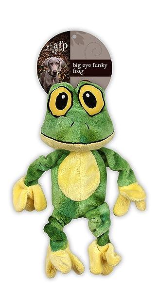 Amazon.com: AFP Big ojos Funky rana perro de juguete 10 ...