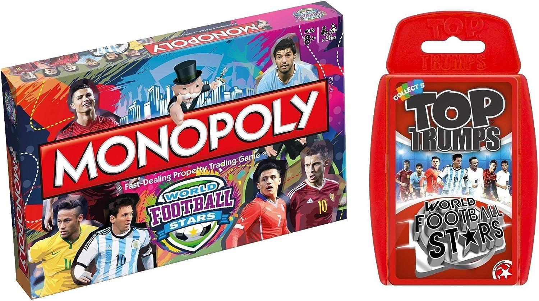 World Football Stars - Monopoly - Top Trumps - Trivial Pursuit - Monopoly & Top Trumps: Amazon.es: Juguetes y juegos