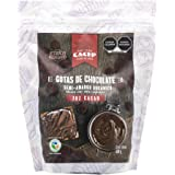 CACEP | Gotas de Chocolate Orgánico Semi Amargo 70% cacao 500g | Bajo en azúcar | Sin lácteos | Vegano | Ideal para Reposterí