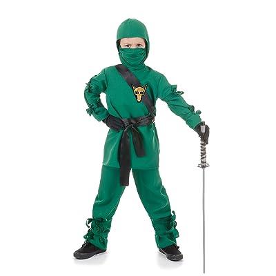 UNDERWRAPS Child Ninja Costume, Green, Medium: Toys & Games [5Bkhe0801090]