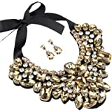 Holylove Statement Choker Necklace Earrings for Women, Costume Chunky Jewelry Set