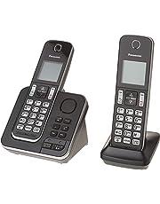 Panasonic KXTGD392B Dect_6.0 2-Handset Landline Telephone