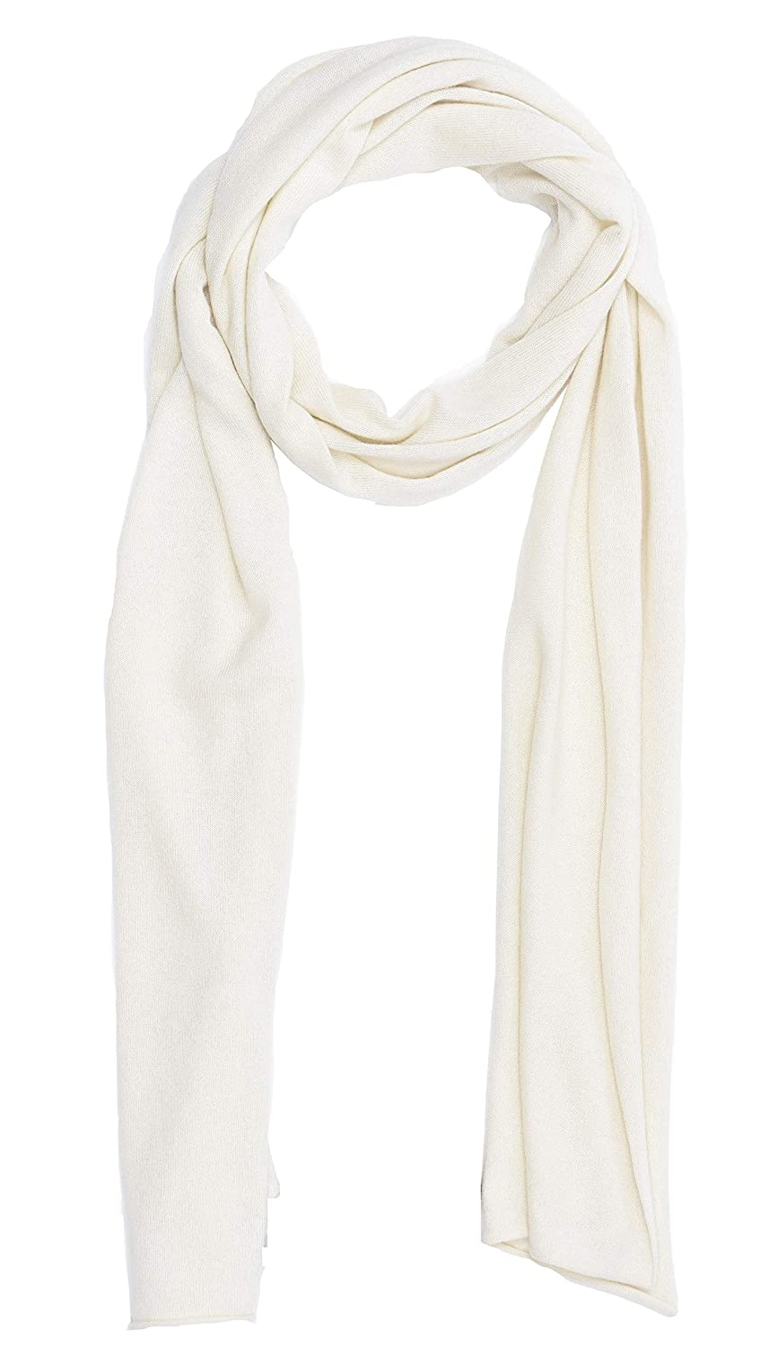 Ivory State Cashmere 100% Cashmere Solid color Scarf Wrap, Soft and Cozy 80 x13.5