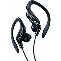 JVC Adjustable Ear Clip Sweat Resistant In-Ear Sports Headphone - Black