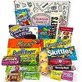 Confezione Media di Snack Americani | Caramelle e Cioccolato per Idea Regalo di Natale e Compleanno | Vasta Gamma tra cui Jolly Rancher Skittles Jelly Belly | 19 Pezzi in Confezione Vintage di Cartone