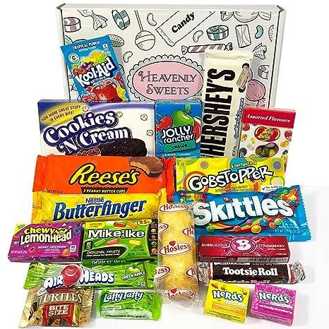 Amerikanische Süßigkeiten Geschenkkorb von Heavenly Sweets ...