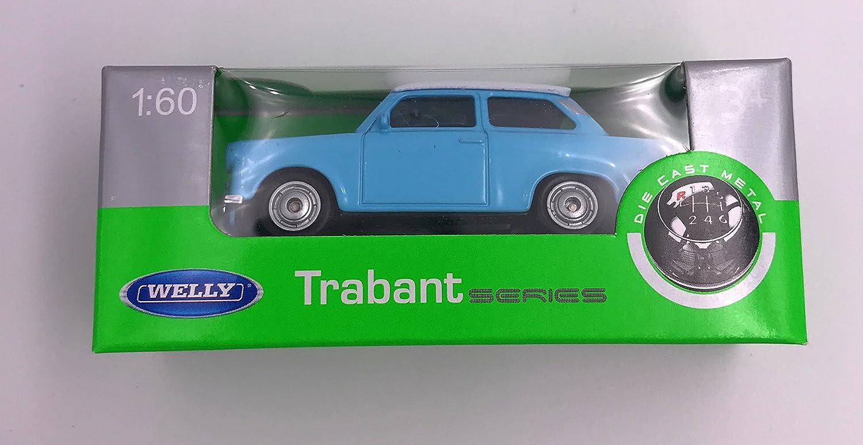 Welly trabant 601 sedán-verde 1:60 reunidos RDA coche modelo
