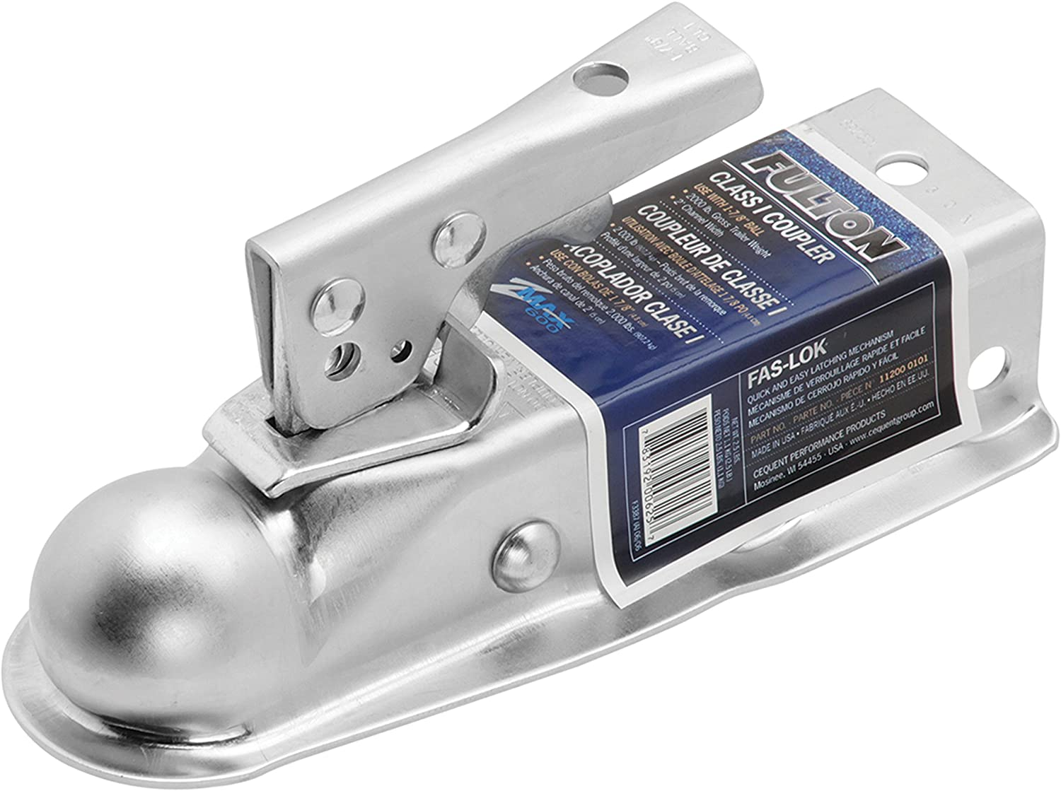 Lok Straight Class I Tongue Coupler 1 7//8 inch ball 2000 lbs. Fulton Fas 2 WIDE CHANNEL