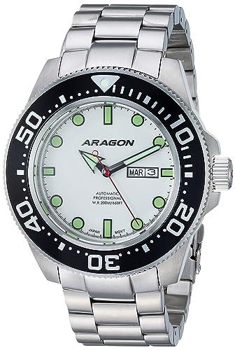 Amazon.com: Aragón a054wht Divemaster automático 50 mm: Wing ...