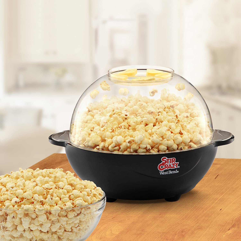 West Bend 82306 Popcorn Machine Stir Crazy Black