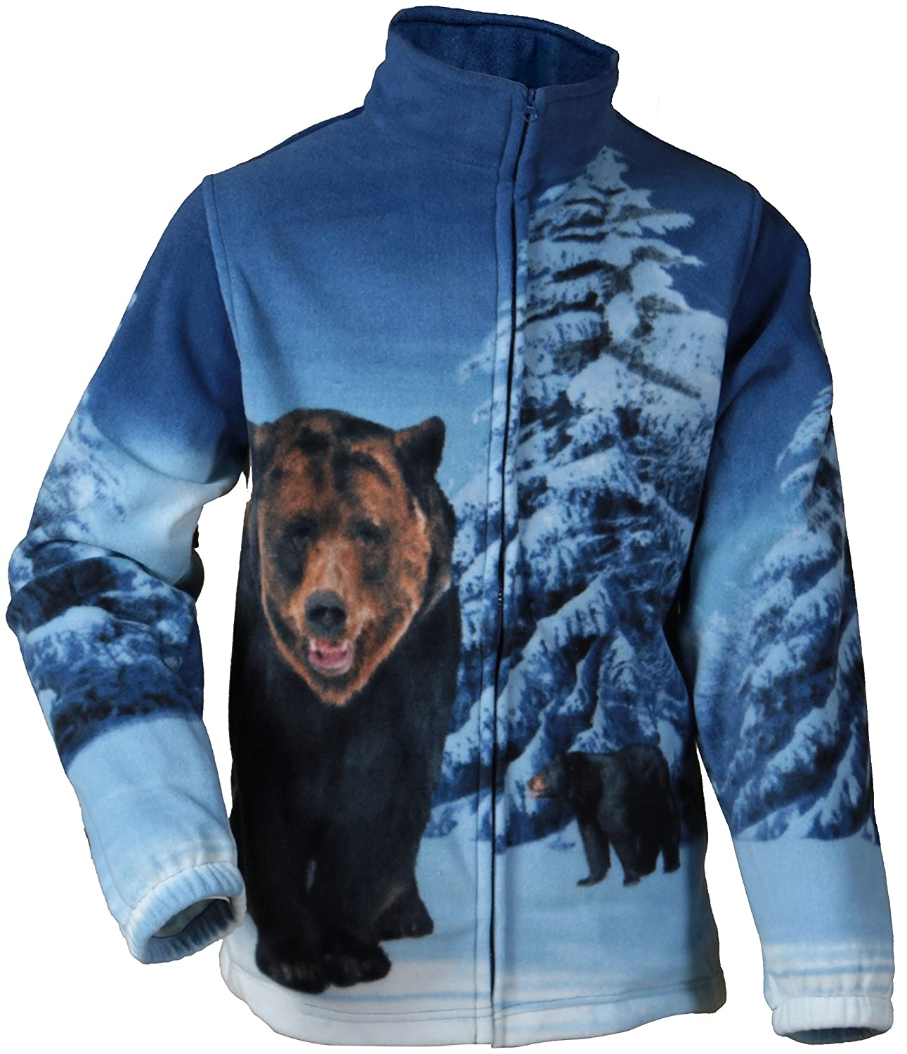 "Trail Crest Fleece Jacket Unisex ""Bear Unlined Top S ~ 3XL"