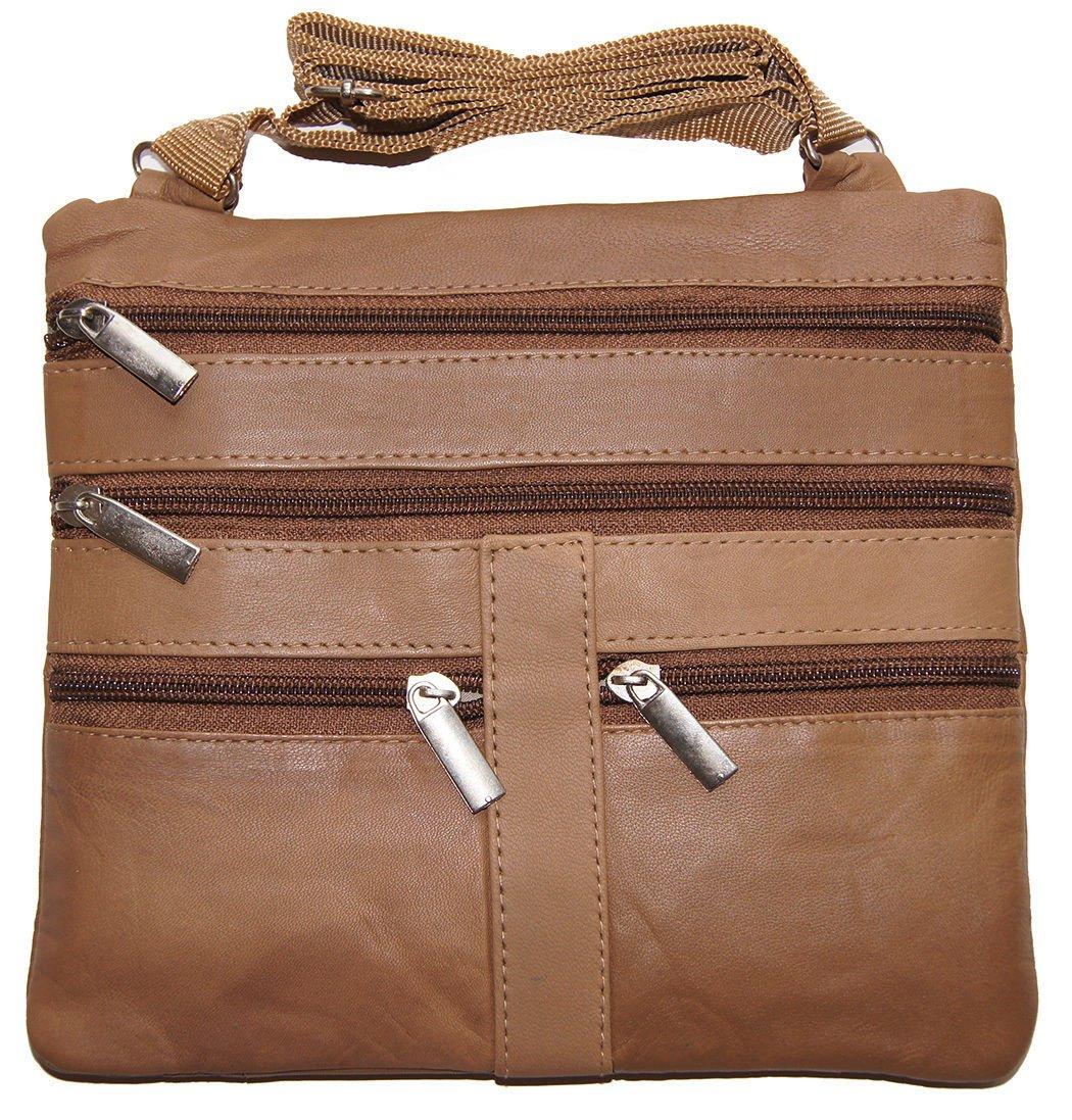 Tan Ladies Genuine Leather Cross Body Bag Satchel Messenger Bag 48'' Strap by Wallet (Image #2)