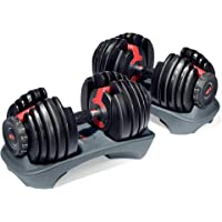 Bowflex SelectTech 552 Adjustable Dumbbells (Pair) + Bowflex SelectTech Dumbbell Stand
