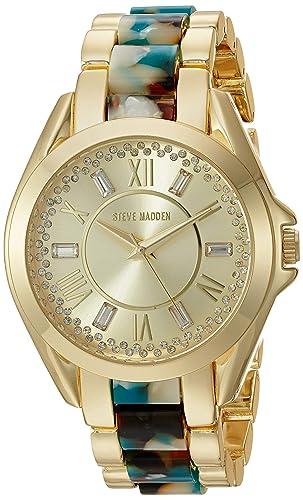 Steve Madden para mujer aleación de reloj con números romanos: Amazon.es: Relojes