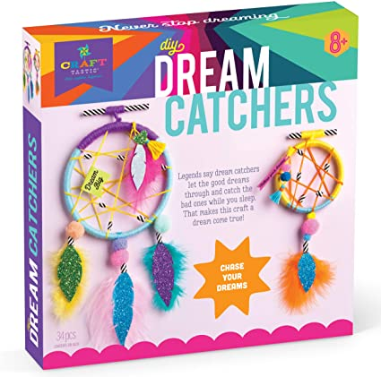 12 Dreamcatcher Childrens Basic Craft KitsArt /& Crafts for Kids